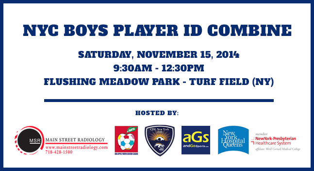 NYC Player ID Soccer Combine, soccer in college, soccer nassau county,
