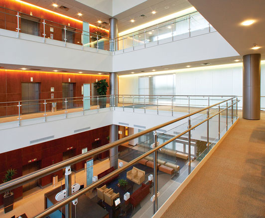 Commercial application of recessed downlights
