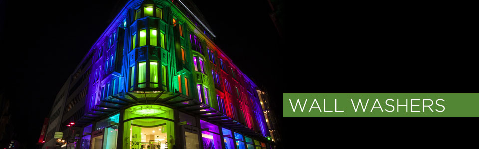 Wall Washers Lights: Add a splash of gorgeous illumination to the exterior of your building with  LED wall washer lighting from our extensive collection of LEDs,  controllers, ...,Lighting