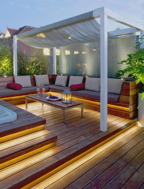 deck and balcony lighting with leds balcony lighting ideas