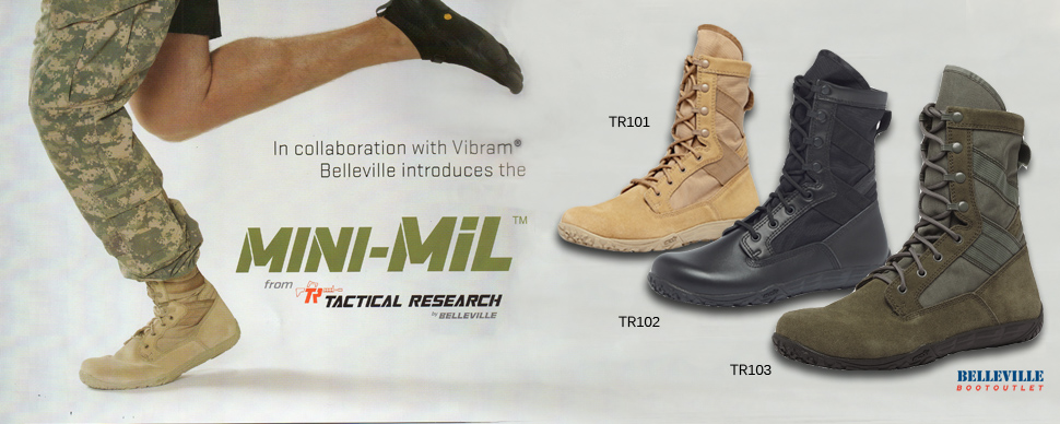 Tactical Research TR101 Minimil Boots