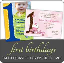 First Birthday Invitations for boys, girls, triplets and twins by Amy ...
