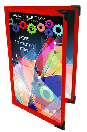 2 Panel, 4 page (8 1/2 x 11) Presentation Holder, Click on the Color Wheel to see available colors