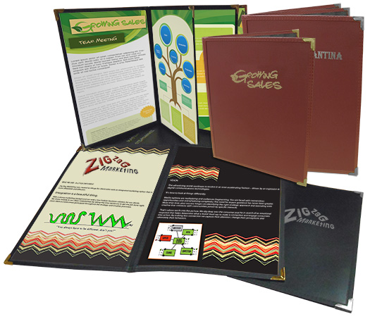 Impression™ FlexFiber™ Presentation Folders with Foil Imprinting: Available in 1, 2, 4, or 6 Panels