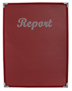 Single View Burgundy Presentation Folder with Silver Foil Imprinting
