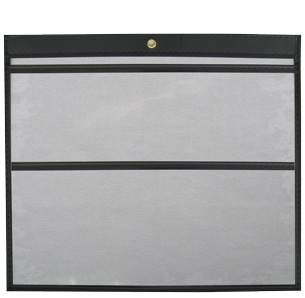 12 x 9 Open Long Double Pocket Single Panel Vinyl Job Jackets/Envelopes, Click on the Color Wheel to see available colors