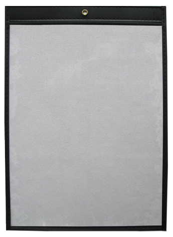 17 x 24 Open Short Single Panel Vinyl Job Jackets/Envelopes, Click on the Color Wheel to see available colors