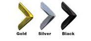 Metal Corner Colors: Gold, Silver & Black
