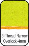 Three Thread Narrow Overlock
