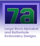 Brother Quattro 3 Large Block Alphabet and Buttonhole Embroidery Designs