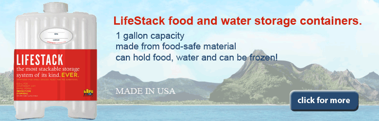 LifeStack food and water storage containers