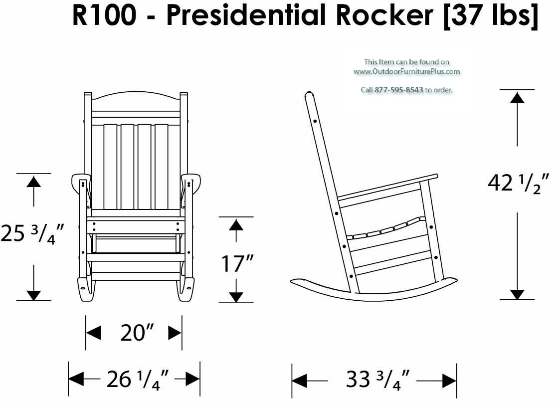 polywood u00ae presidential rocking chair 3