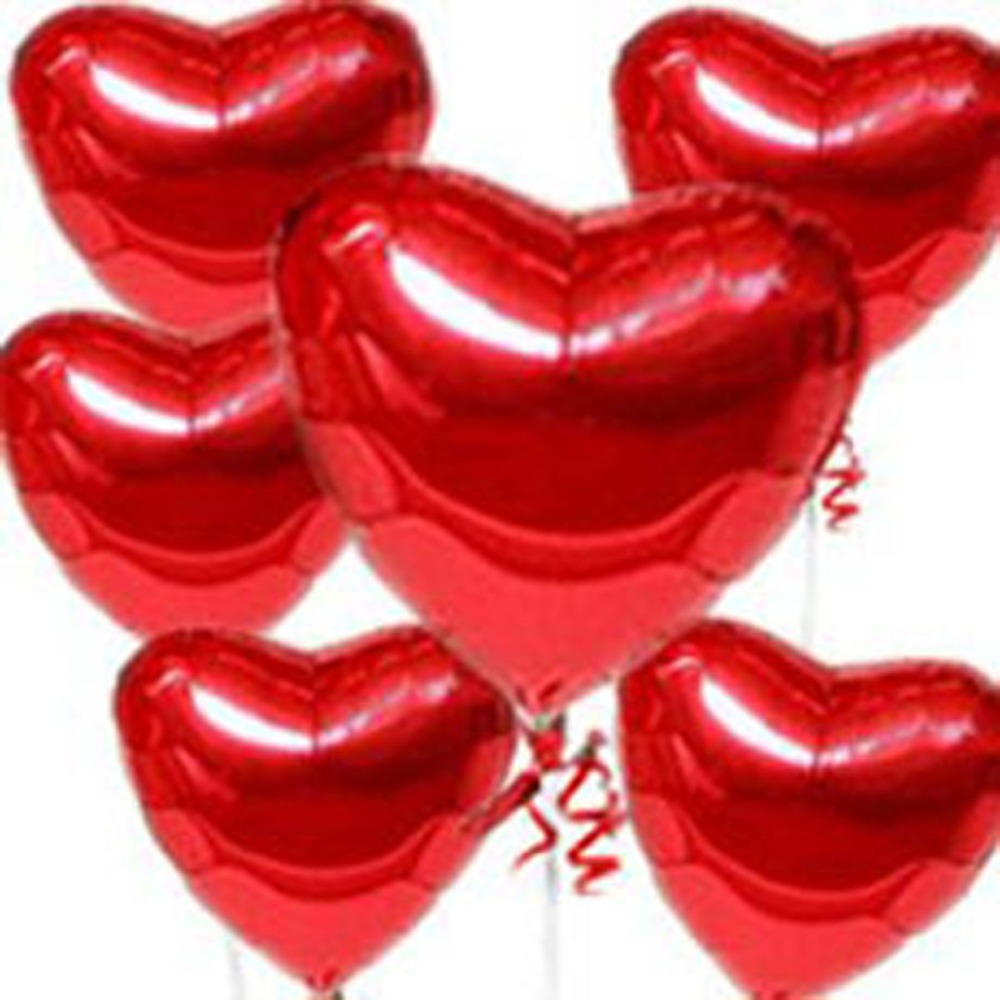 Red Heart Foil Balloons