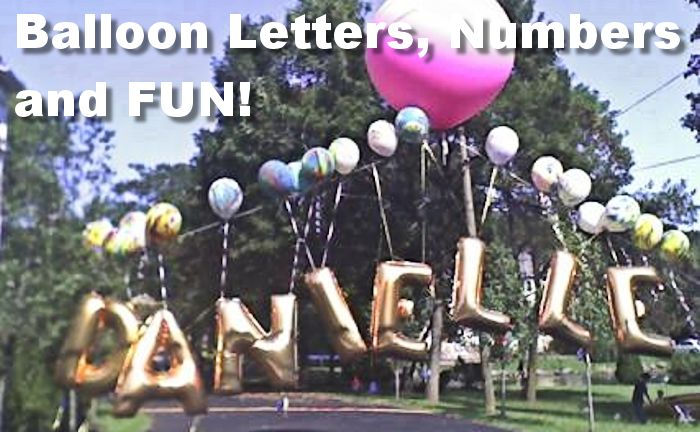 Letter and Number Balloons