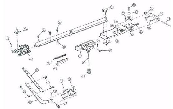 Genie Garage Door Opener Chain Drive Rail Parts For Genie