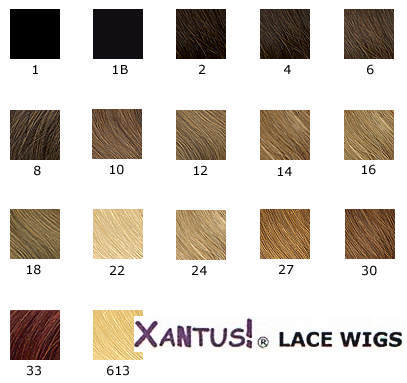 blonde hair colours chart