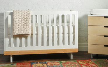 Modern Baby Cribs in Light Wood FREE SHIPPING