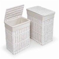 Badger Basket Two Hamper Set with Liners