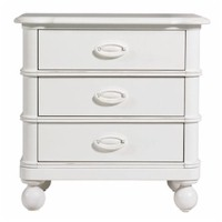 Hampton Pointe Piano Key Three Drawer Nightstand by Young America