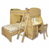 Berg Furniture Bunk Bed with Desk