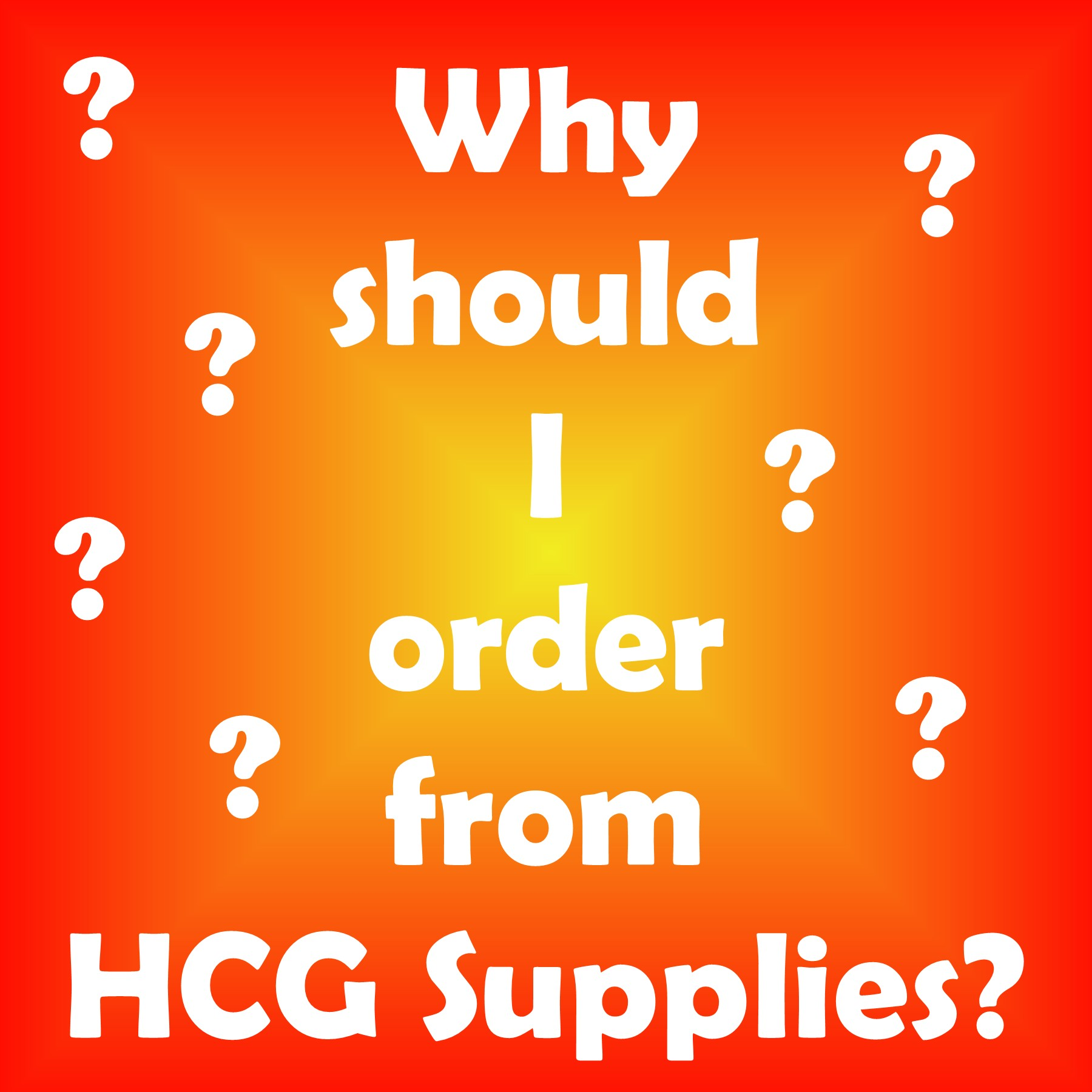 Why Order from HCG Supplies