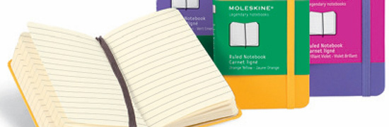Moleskine Classic Extra Small Notebooks in COLOR