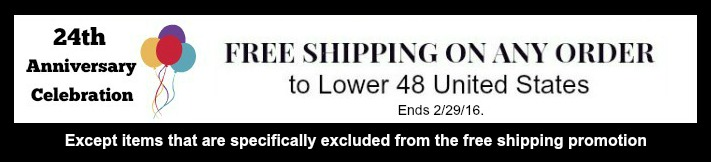 Free Shipping to Lower US48