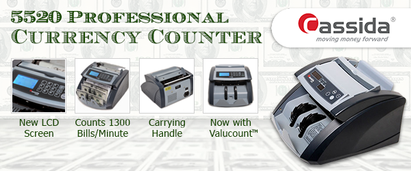 Cassida Corporation upgrades its 5520 Professional Currency Counter