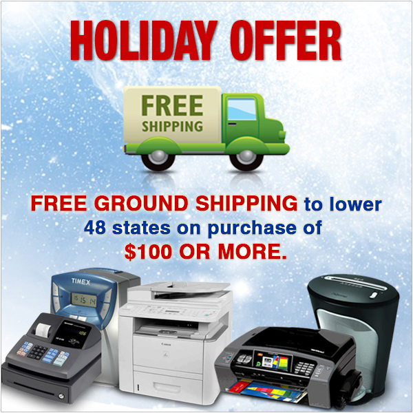Holiday Free Ground Shipping Offer