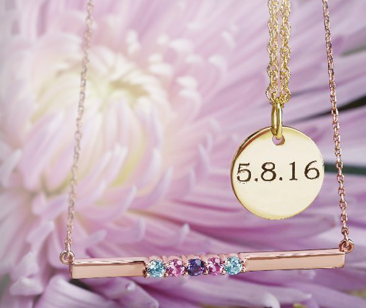 Customizable Mothers Jewelry for Mom - Personalizable Family Jewelry