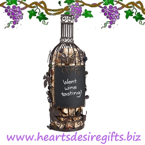 Chalkboard Bottle Shaped Cork Cage