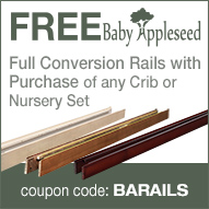 Free BabyAppleseed Bed Rails with Select Cribs