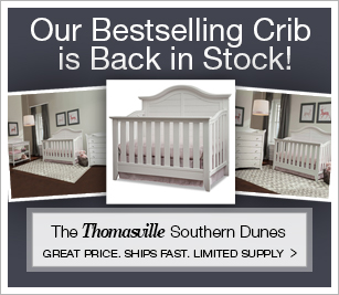 Our Best Selling Thomasville Southern Dunes Crib is Back in Stock!