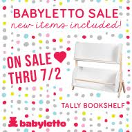 Free Alphabet Stroller Blanket with purchase of a Babyletto crib or set