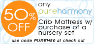50% of Pure Harmony Mattress with Purchase of a Nursery Set