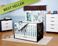 BabyLetto Mercer 3 Piece Nursery Set in White & Espresso