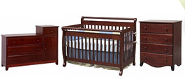 Dark Wood Crib Sets