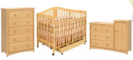Light Wood Crib Sets