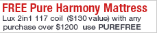 Free Pure Harmony Sleep Safe Lux Mattress Sale
