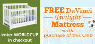 Free Twilight Mattress with the Purchase of Select Cribs or Nursery Sets