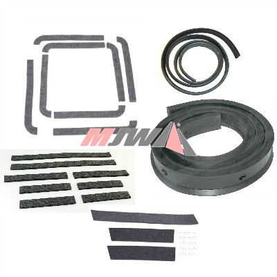 MB & GPW Weatherstrip Parts