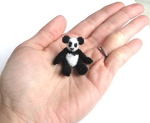 dollhouse miniature plush stuffed panda bear toy doll
