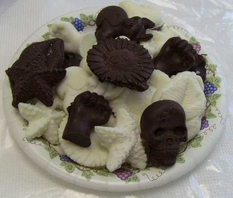Chocolate Castings made with ComposiMold-FC