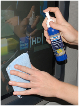 Diamondite Multi Purpose Screen Cleaner & Protectant is safe on LCD, LED, plasma, DLP, glossy, and anti-glare screens.