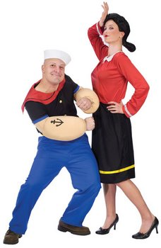 popeye and olive oyl couple costume