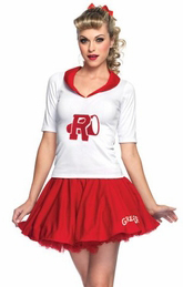 women's sexy grease sandy costume