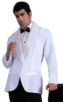 mens 40s movie star white tuxedo jacket
