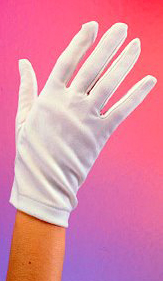 white 50s gloves