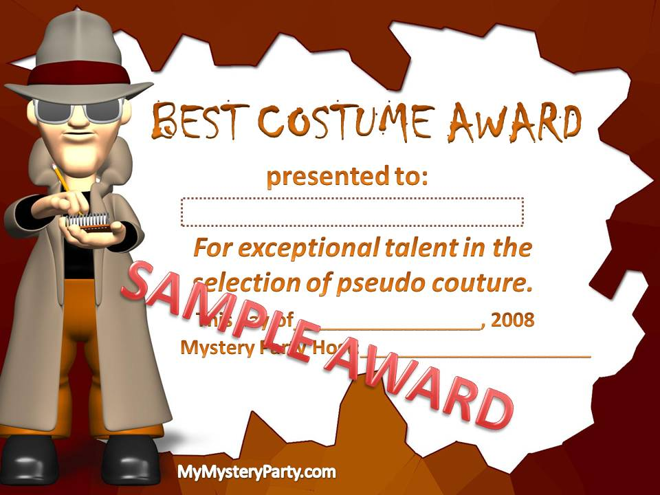 Famous free funny award certificate templates best dressed award certificate yadclub Image collections
