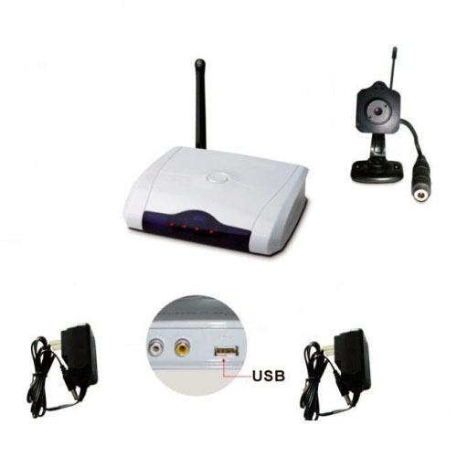 wireless color spy camera with usb adapter